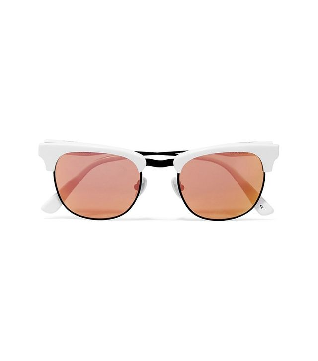 Westward Leaning x Olivia Palermo Vanguard D-Frame Acetate Mirrored Sunglasses