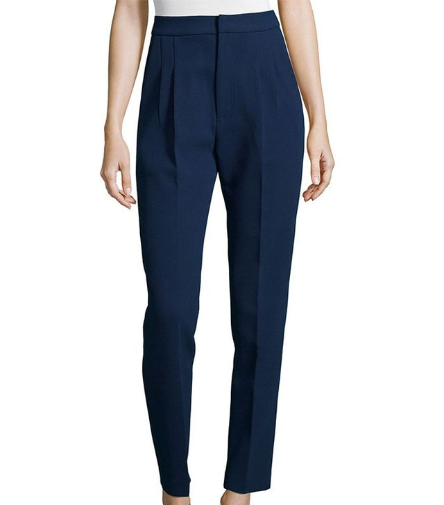 Self-Portrait Tailored High-Waist Crepe Pants