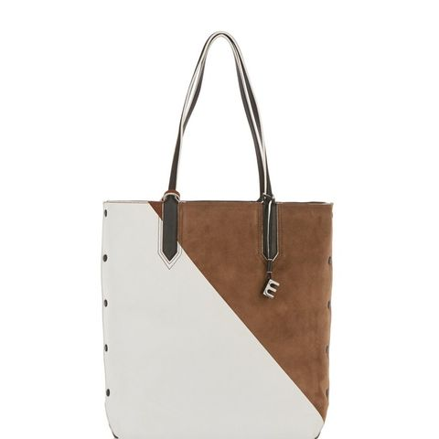 Scott Color-Block Leather and Suede Tote