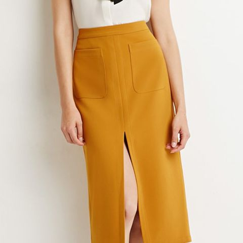 Contemporary Front Slit Pencil Skirt