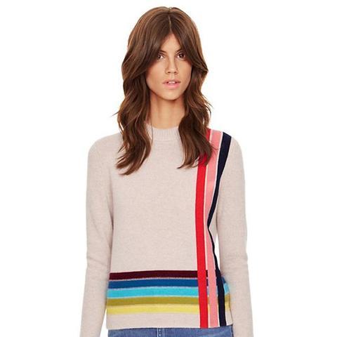 Stripe Cashmere Pullover