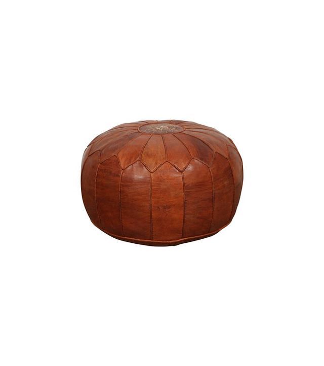 1stdibs Large Vintage Moroccan Leather Pouf