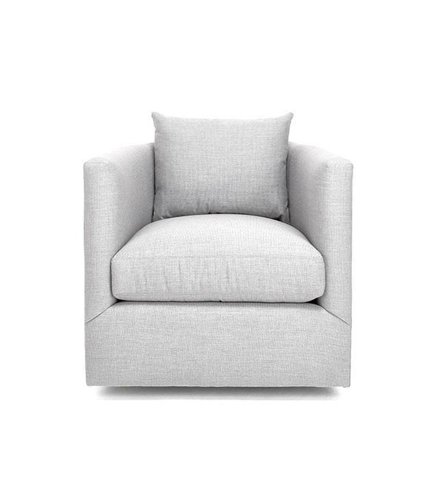 ABC Carpet & Home Emerson Silver Swivel Chair