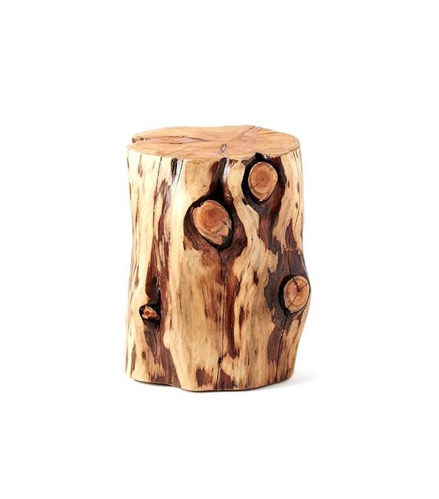 West Elm Natural Tree Stump Side Table