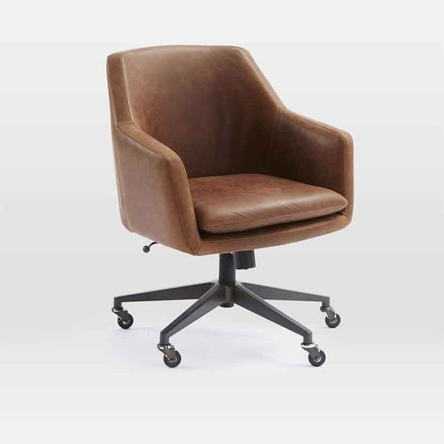 elegant desk chairs. West Elm Helvetica Leather Office Chair Elegant Desk Chairs T