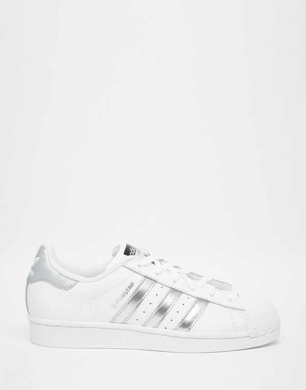 Adidas Originals White & Silver Superstar Trainers