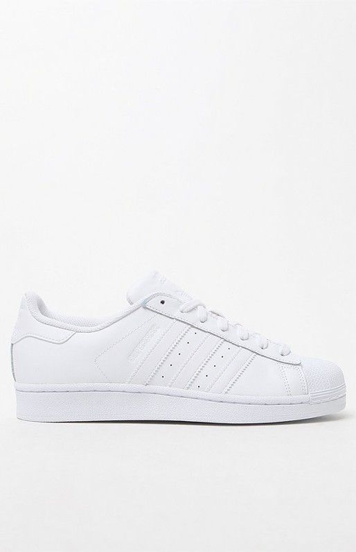 Adidas White Stripe Superstar Low-Top Sneakers