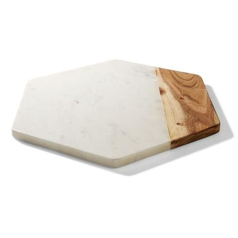 Kmart Marble and Wood Hexagon Board