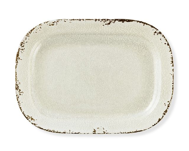 Williiams-Sonoma Rustic Melamine Platter, Ivory