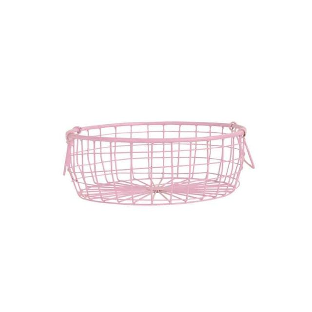 The Woods Folk Low Wire Pink Basket