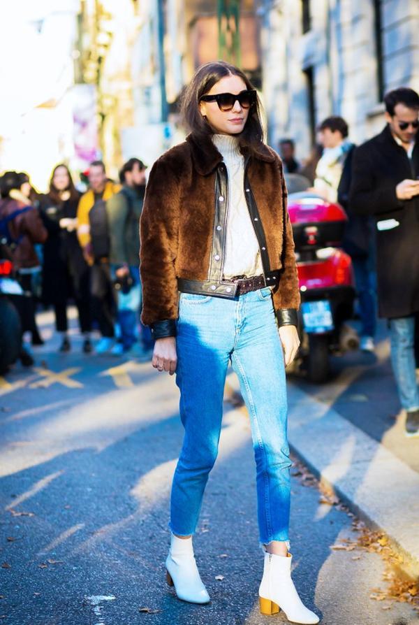 Who:Diletta Bonaiuti What: Milan Men's Fashion Week A/W 16. Wear:CélineShadow Sunglasses(£280) available in green, Sandro Vicious Jacket(£422). See...