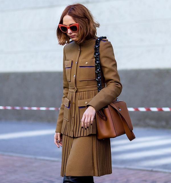 Who:Candela Novembre What: Milan Men's Fashion Week A/W 16. Wear:Marco De Vincenzojacket and skirt;Stuart Weitzman Alllegs Boots(£695). See Candela Novembre's...