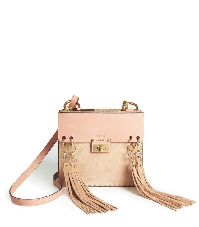 Chloé Jane Small Leather & Suede Crossbody Bag