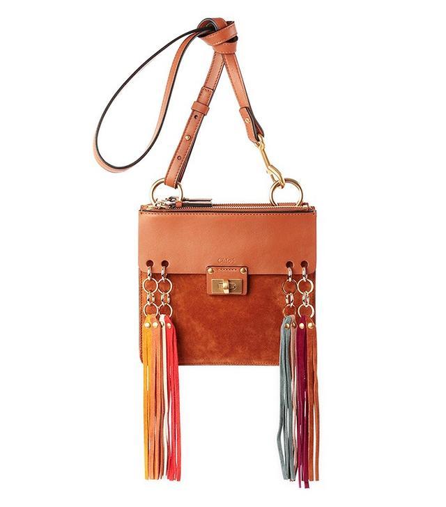Chloé Jane Tassel-Trim Leather Crossbody Bag