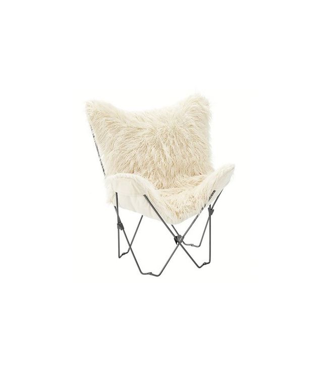 PB Teen Furlicious Faux Fur Butterfly Chair