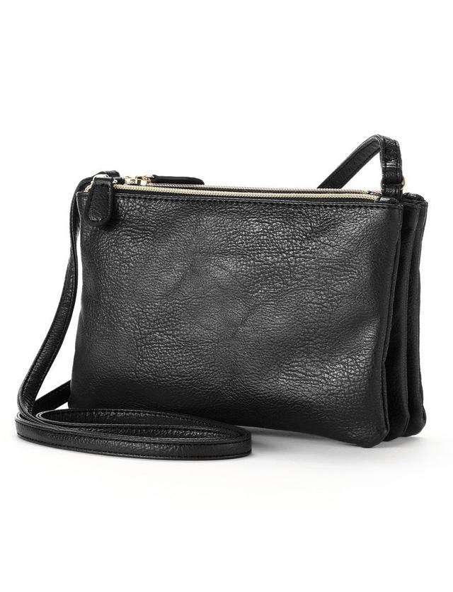 Apt. 9 Triple Zipper Crossbody Bag