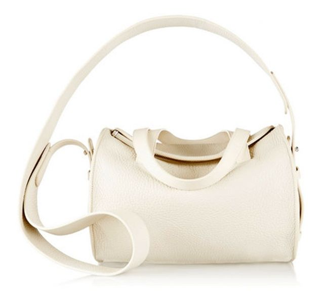 The Row Drum 10 Pebbled-Leather Shoulder Bag