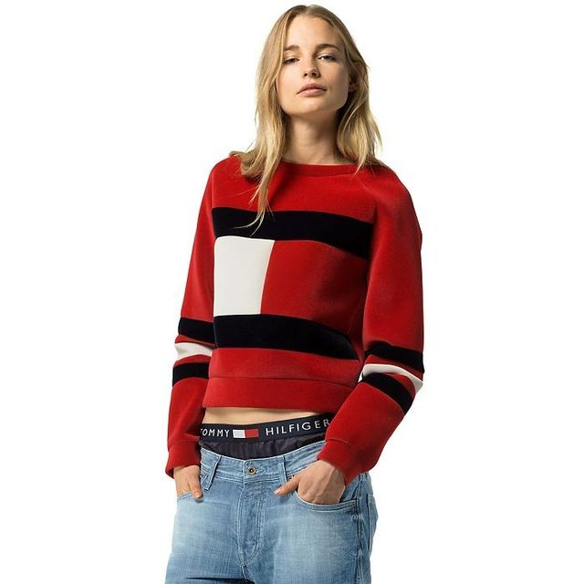 Tommy Hilfiger Re-Edition Collection Velvet Flag Sweatshirt