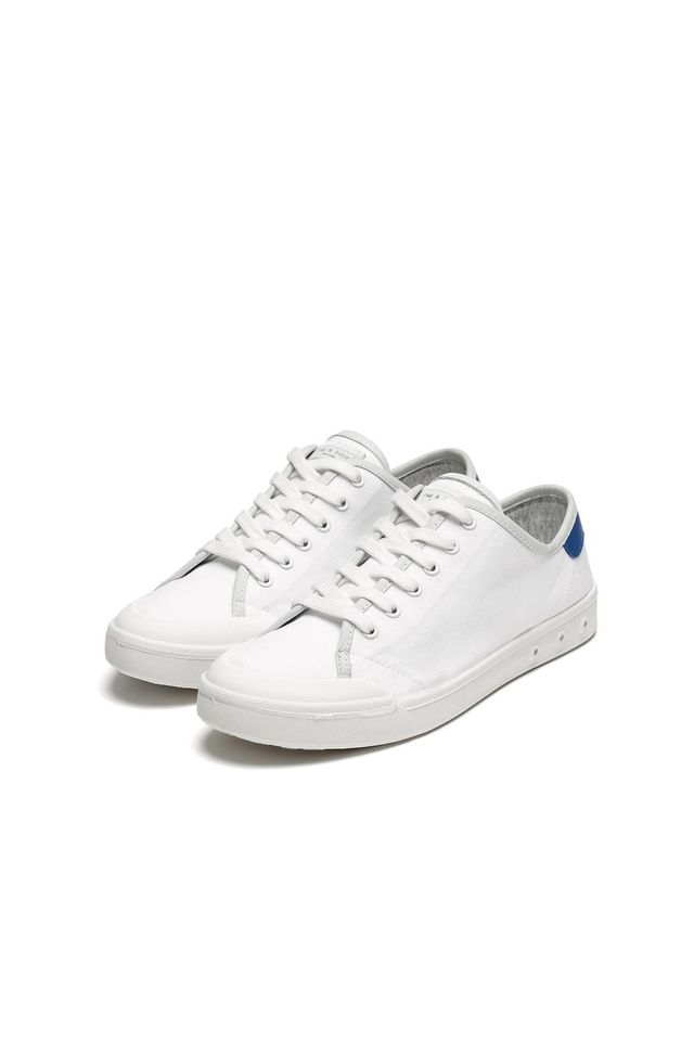 Rag & Bone Standard Issue Lace Up Sneakers in White/Blue