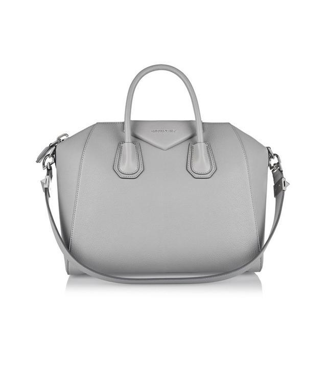Givenchy Medium Antigona Bag in Gray Textured-Leather