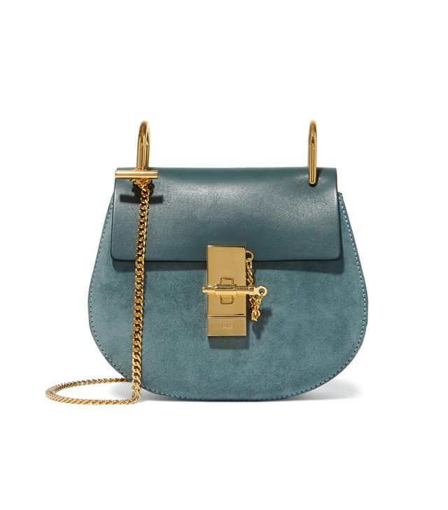 Chloé Mini Leather and Suede Shoulder Bag