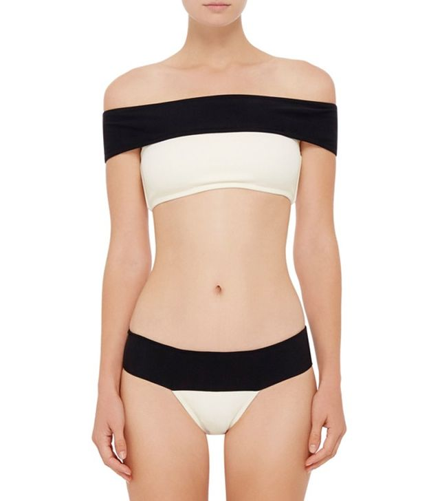 Lenny Niemeyer Two Toned Off-the-Shoulder Bikini Top