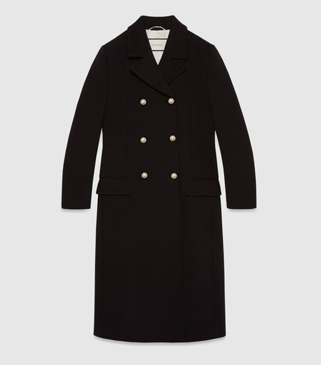 Gucci Stretch Wool Double Breasted Coat