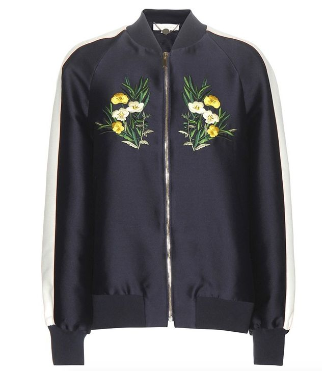 Stella McCartney Lorinda Floral Embroidered Bomber Jacket