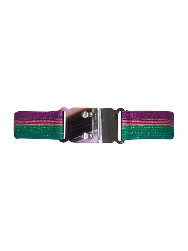 Missoni Striped Lurex Stretch Belt