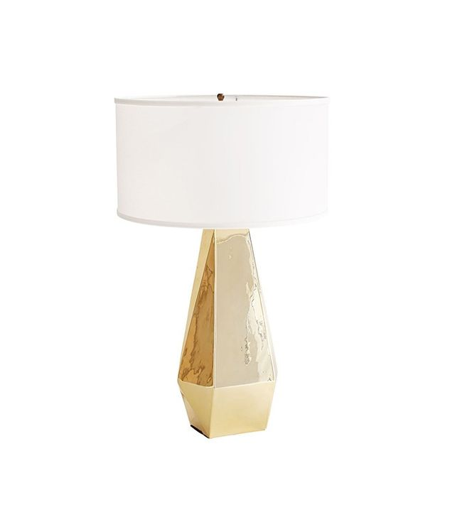 Wisteria Gold Poly Lamp