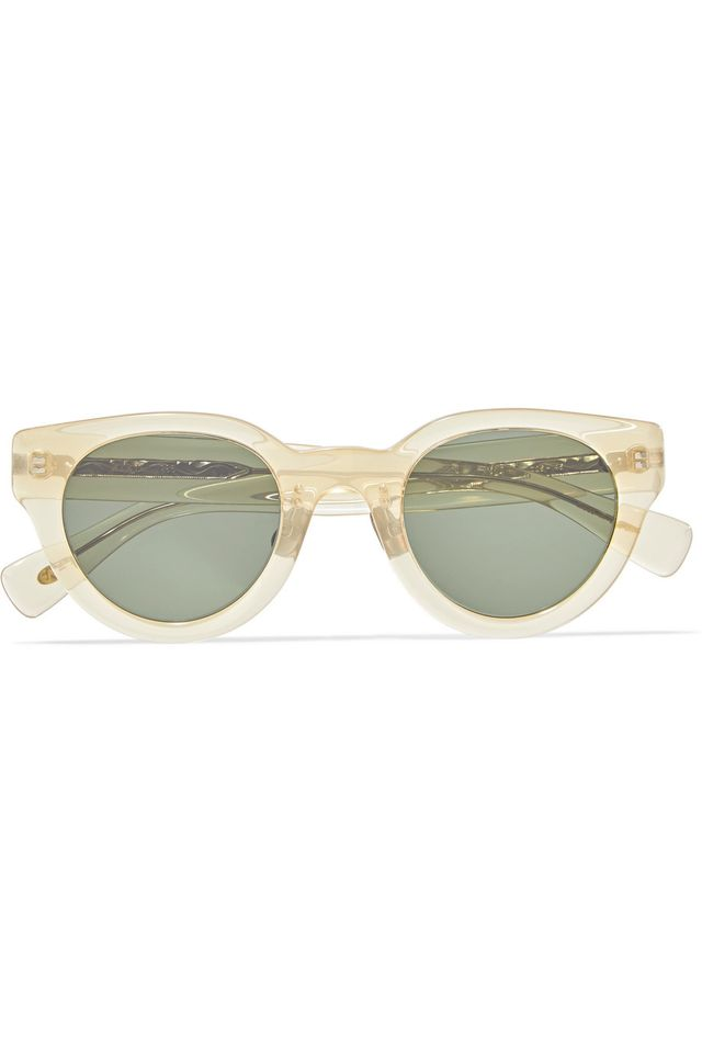 Eyevan 7285 Cat-Eye Acetate Sunglasses