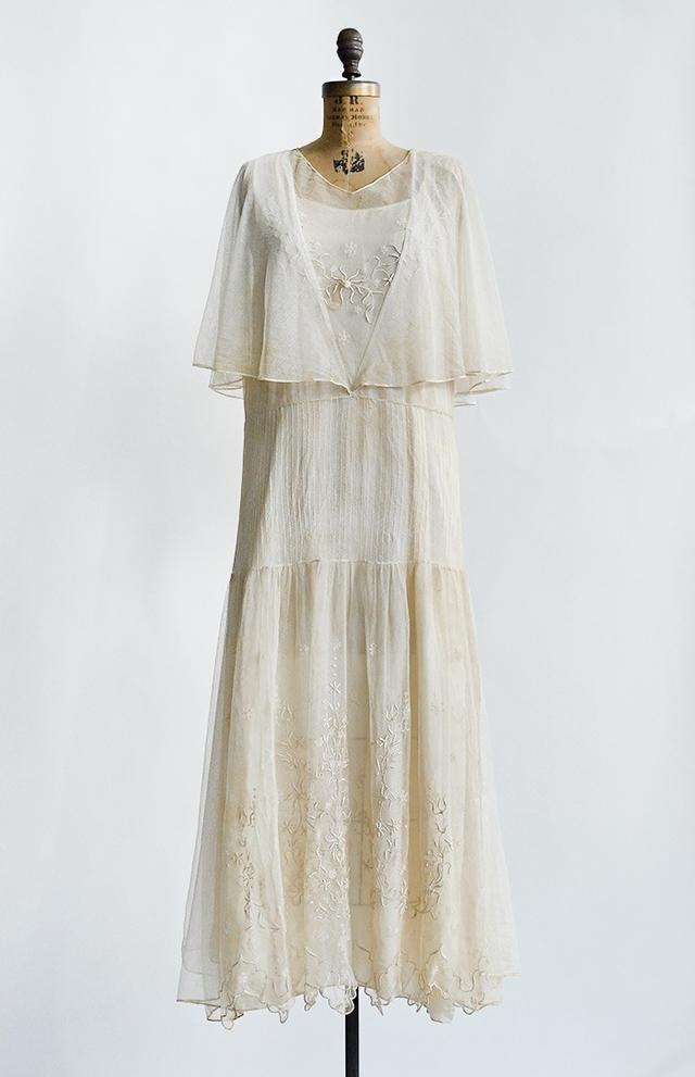 1920s Tendrils of Ivory Dress