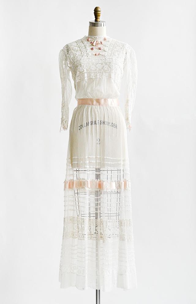 1900s Innocent Loves Tea Edwardian Gown