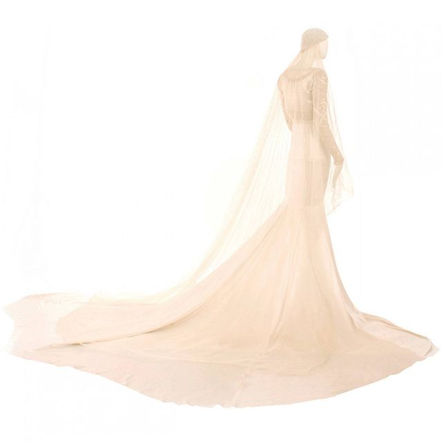 Norman Hartnell 1931 Ivory Silk Satin Couture Wedding Gown