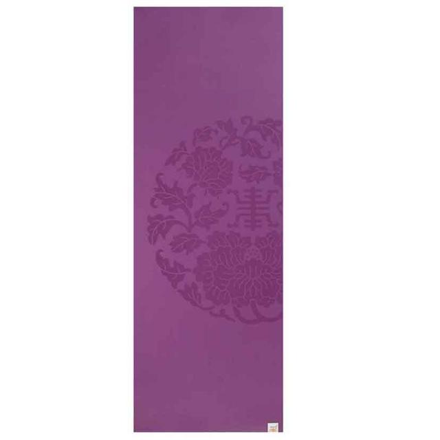 Gaiam Sol Dry Grip 5mm Purple Yoga Mat
