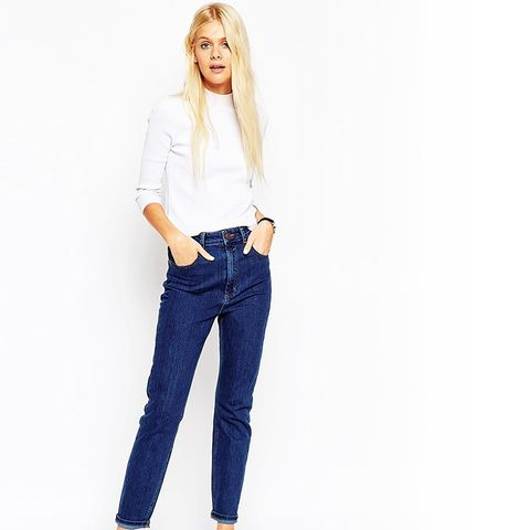 Farleigh Slim Mom Jeans in Willow Mid Wash
