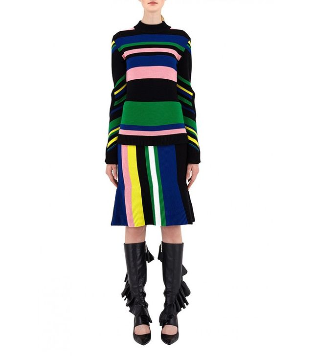 J.W.Anderson Ottoman Striped Mockneck Top
