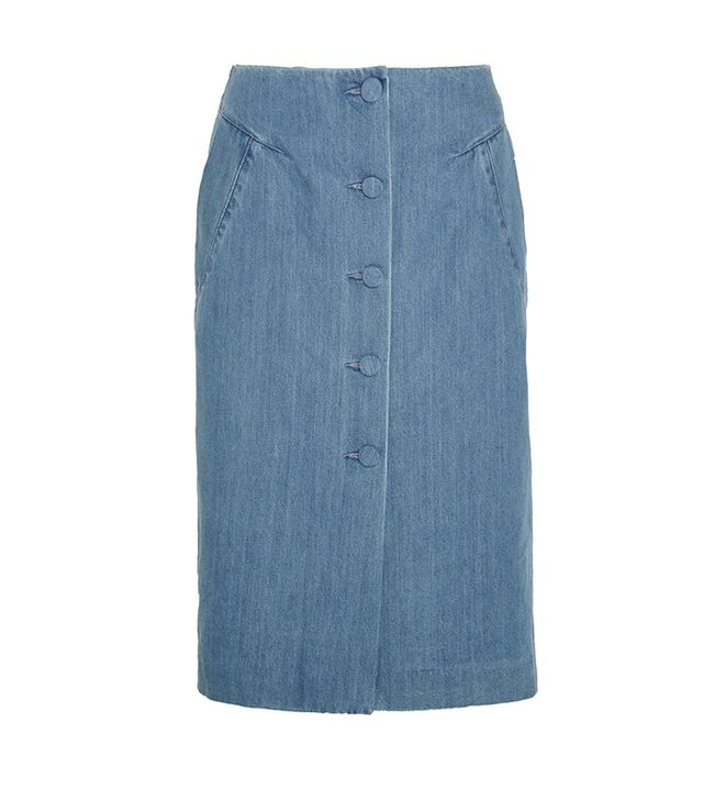 Topshop Unique Whitcomb Denim Skirt