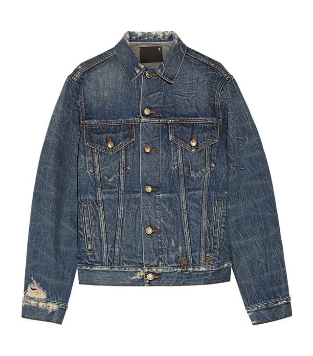 R13 Rebel Embroiered Denim Jacket