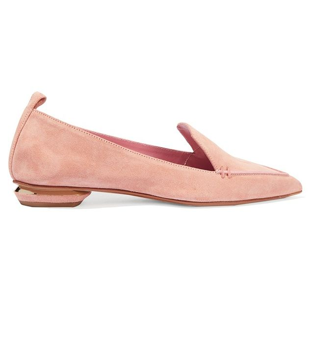 Nicholas Kirkwood Suede Point-Toe Flat Shoes