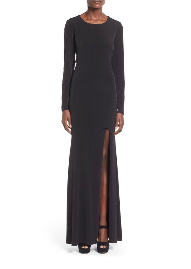 Way-In Sam Cutout Long Sleeve Gown