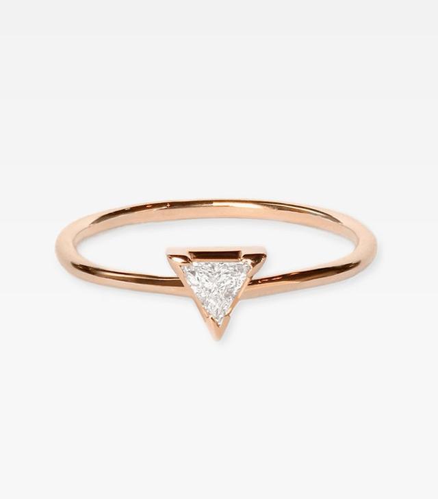 Vrai & Oro Trillion Diamond Ring