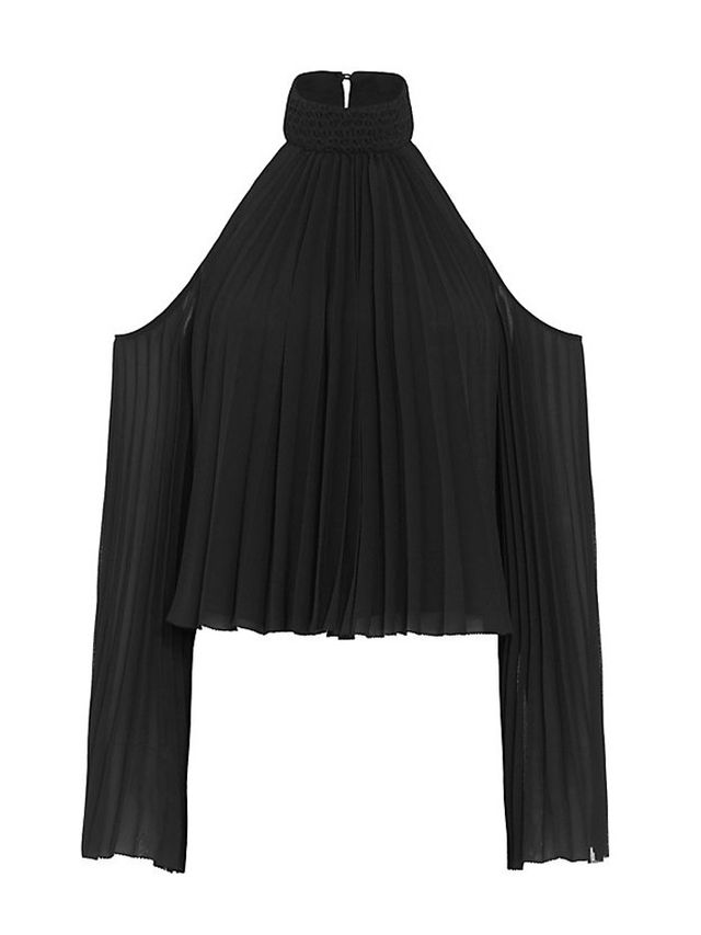 Exclusive for Intermix Perris Cold Shoulder Pleated Blouse