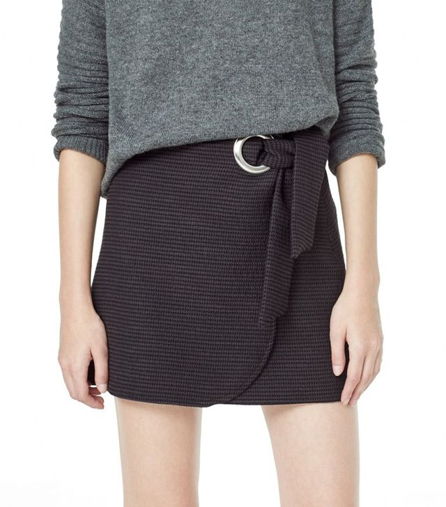 Mango Textured Cotton Skirt
