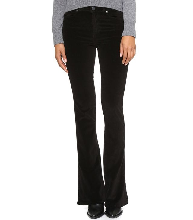 Paige Denim High Rise Lou Lou Velvet Pants