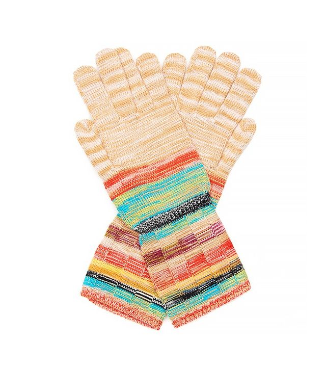 Missoni Striped Ribbed-Knit Gloves