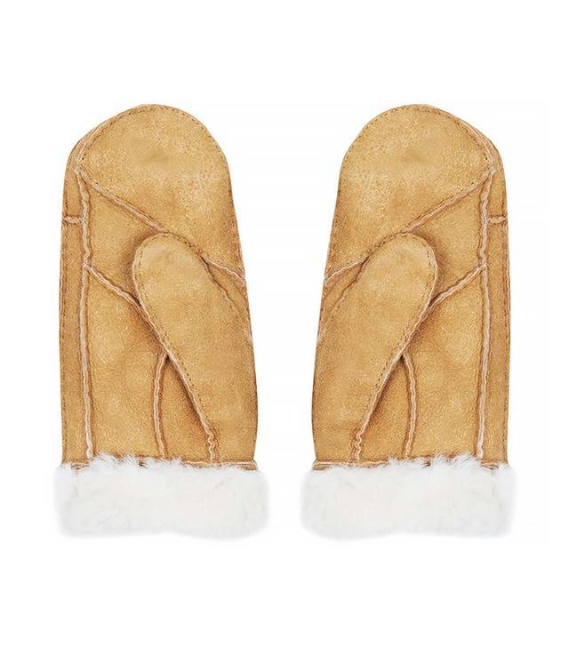 Topshop Sheepskin Mitten Gloves