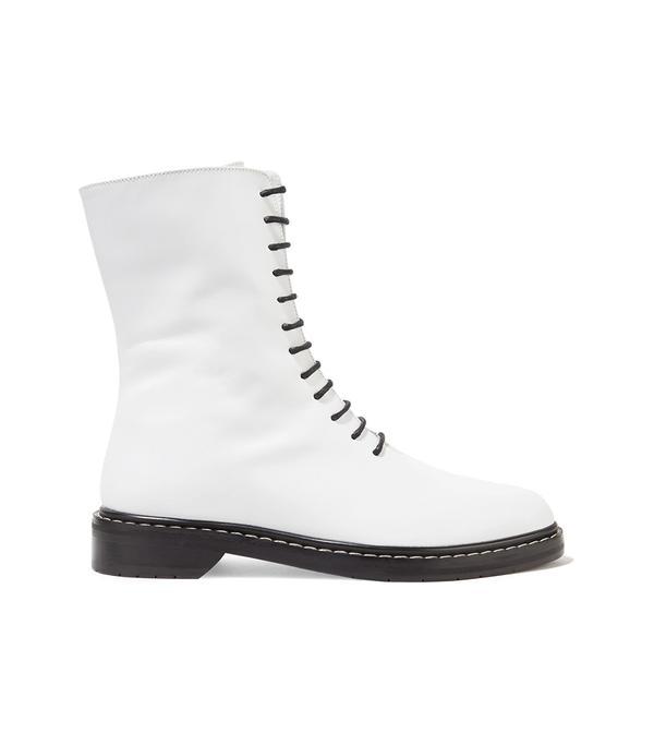 Fara Leather Combat Boots