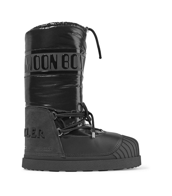 Moon Boot Venus Shell And Textured-leather Snow Boots