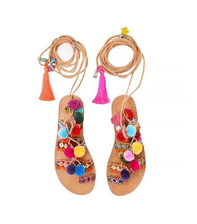 Penny Lane Pom Pom Sandals
